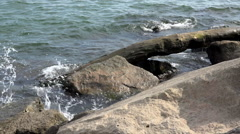 Rocks and Driftwood - stock footage