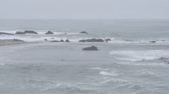 Couple Walking on Pescadero Beach in Slow Motion Stock Footage