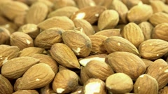 Rotating almonds background (loopable) Stock Footage