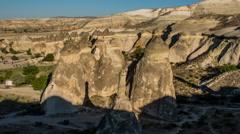 Aerial view of Cappadocia Stock Footage