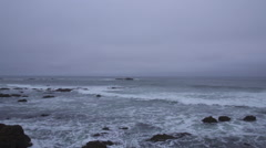 Wide shot of Pigeon Point Light House Stock Footage