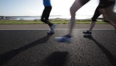 Marathon runners Stock Footage