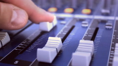 Audio  board , recording the voice in the music film studio Stock Footage