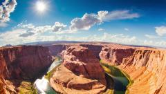 Time lapse of Horseshoe Bend Stock Footage
