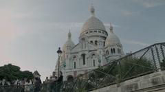 Paris, France, Basilica of the Sacré Cœur Stock Footage