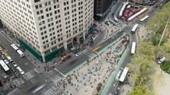New York City Madison Square Traffic Timelapse 2a Stock Footage