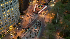 4K New York City Madison Square Traffic Timelapse 4b Stock Footage