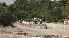 Athens Greece tourist Ancient Agora path 4K 051 Stock Footage