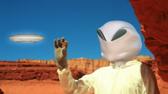 Alien extraterestrial visitors visitor Stock Footage