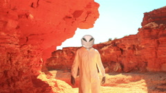 alien on planet - stock footage