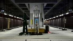 Modern underground shelter Stock Footage