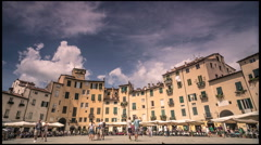 Piazza Anfiteatro, Lucca, Italy - stock footage