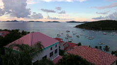 Boats come and go in cruz bay Stock Footage