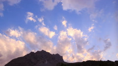 Sunset in the mountains. Pamir, Tazhikistan. Time Lapse Stock Footage