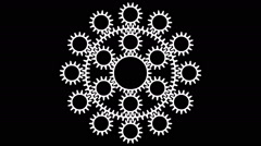 Rotating gears in seamless loop T-33a Stock Footage