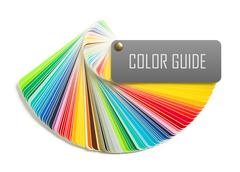 Stock Photo of color guide isolated on white background