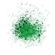 watercolor green blot - stock illustration