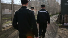 Stock Video Footage of Prison Zone camp for prisoners