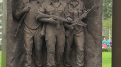The opening of the monument to Soviet soldiers in Afghanistan. Stock Footage
