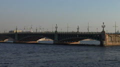 Divorce Trinity Bridge in St. Petersburg in the afternoon. Day. Stock Footage