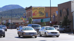 Small town traffic Stock Footage