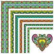collection of ornamental floral vintage frame design. - stock illustration