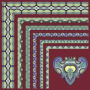 Collection of ornamental floral vintage frame design Stock Illustration