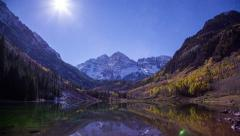 Maroon Bells Star Timelapse 4k Stock Footage