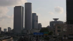 Tel Aviv - Israel - Metropolitan - Skyline / Ayalon Highway - 30P - UHD 4K Stock Footage