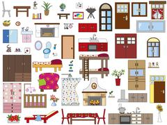 Interior home Stock Illustration