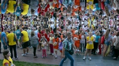 The world's population - people crowd mirror background Stock Footage