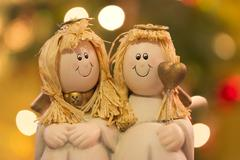 two angels - stock photo