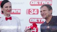 Interview Oleg Skripka Stock Footage
