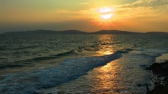 Seaside and the Morning Sun Stock Footage
