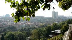 City (building) with nature (trees) - sunny Stock Footage