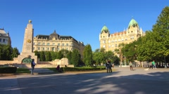 4K time-lapse of the Szabadsag Ter in Budapest Stock Footage