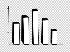 Bar Graph 01  hand drawn illustration whiteboard sketch - stock footage