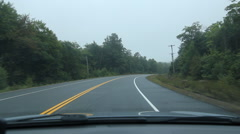Driving POV in countryside. Dark, misty morning. Stock Footage