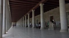 Athens Greece Ancient Agora Museum tourists 4K 046 Stock Footage
