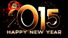 New year 2015 animation 21 - stock footage