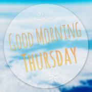 Good morning thursday on blur background Stock Illustration