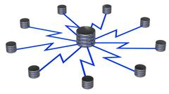 Network storage Stock Illustration