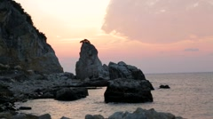 Landscape, Coast Sunset - stock footage