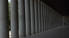 Athens Greece columns Museum of Agora 4K 044 Stock Footage