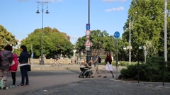 Traffic in Budapest Stock Footage