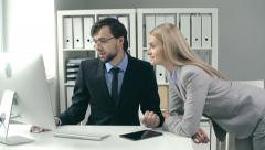 Informal Communication of Coworkers Stock Footage