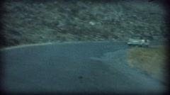 Cars go fast in Greece in super 8 format Stock Footage