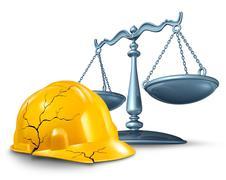 construction injury law - stock illustration