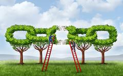 Growing a business partnership Stock Illustration