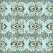 Seamless geometry vintage pattern, ethnic style ornamental backg Stock Illustration